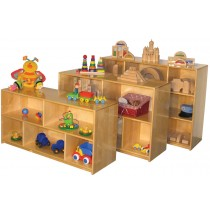 Deluxe Storage Unit with Dividers 2-shelves, 48''w x 16''d x 24''h (front unit in picture)