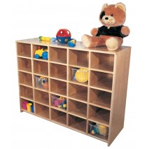 Maple Cubbies for 20, 48w x 16d x36h (cubbies for 25 shown)