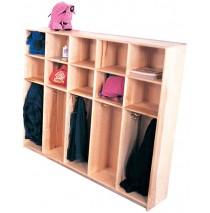 Maple Lockers for 12, 72w x 12d x 48h (Lockers for 10 shown)