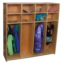 Maple lockers for 8, 48w x 12d x 48h
