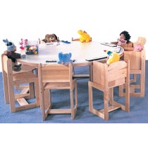 Deluxe Toddler 60'' Round Table 19h (Chairs not included)