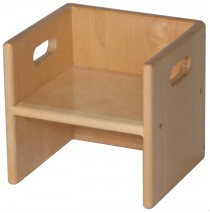 Solid Maple Cube Chair, 11x10x11½h (Cube Chair only)