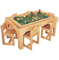 Mainstream Preschool Table Toy Playcenter for 6, 48''w x 30''d x 21''h (Deluxe table for 6 shown)