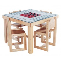 Deluxe Adult Game Table, 35''w x 35''d x 30''h (School Age shown) (Chairs not included)