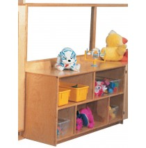 Deluxe Divider with 24''h Storage & Divided Shelves, 48''w