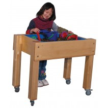 Deluxe School Age Single Tub Sensory Table, 30''w x 26''d (Preschool shown)