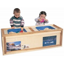 Deluxe Rect. Primary Care Cabinet w/Sensory/Science Table, 48''w x 15''d x 18''h