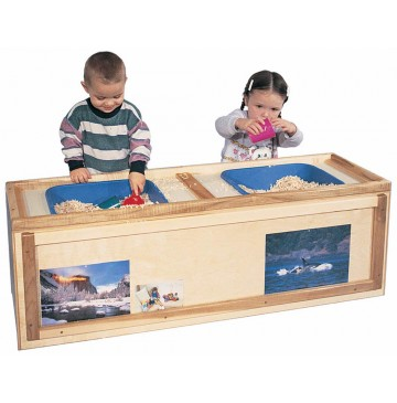 Deluxe Rect. Primary Care Cabinet w/Sensory/Science Table, 48''w x 15''d x 18''h  - sk3409_primcarrectsens-360x365.jpg