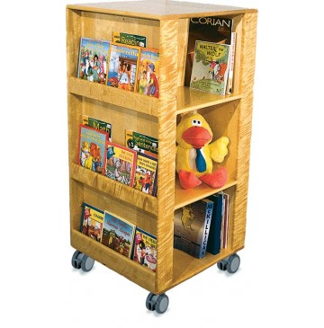 Deluxe Mobile Library Center, 24''w x 24''d x 50''h - sk357_mobilelibrary-disply-360x365.jpg