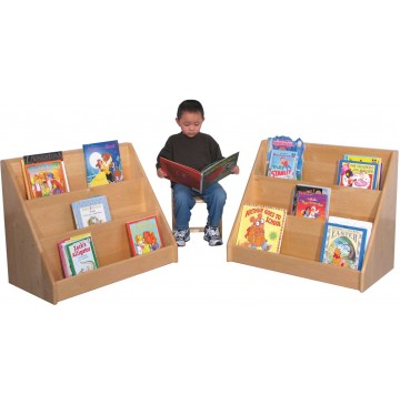 Strictly For Kids Deluxe Maple Infant/Toddler Book Display, 30''w x 16''d x 24''h - sk369_dlxitbkdsplyboy-360x365.jpg