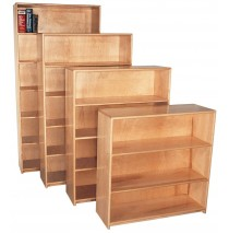 Strictly For Kids Deluxe Maple Bookcase, 36''w x 12''d x 42''h, 3 shelves (front unit)