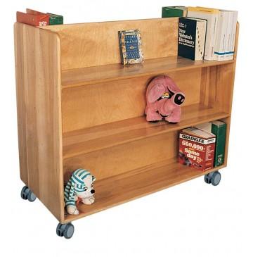 Doublefaced Book Truck, 48''w x 22''d x 42''h - sk3800_dlxdblsidebooktruck-360x365.jpg
