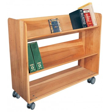 Strictly For Kids Deluxe Book Truck with 2 sloped & 1 standard shelf, 42''w x 16''d x 42''h - sk3805_dlxbooktruck-360x365.jpg