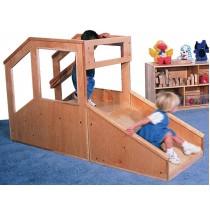 Strictly For Kids Step 'n Slide Deluxe Infant/Toddler Mini Loft, 72''w x 25''d x 48''h, 15''h Platform