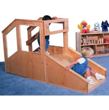 Strictly For Kids Step 'n Slide Deluxe Infant/Toddler Mini Loft, 72''w x 25''d x 48''h, 15''h Platform - sk440_dlxstepslideitloft-360x365.jpg