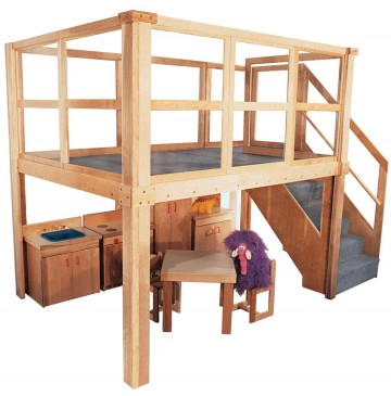 Strictly For Kids Mainstream School Age Navigator 2000 loft, 134w x 78d x 105h overall, 60h deck (Deluxe Preschool shown; other furniture not included) - sk5028_psnavigator2000-360x365.jpg