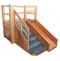 Strictly For Kids Deluxe Adventurer 5 toddler loft, 54''w x 86''d x 60''h, 28''h deck