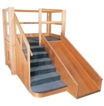 Strictly For Kids Deluxe Adventurer 10 Older Toddler Loft, 68''w x 107''d x 72''h, 35''h