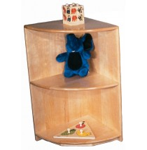 Deluxe Maple Corner Wave Cabinet, 16''w x 16''d x 36''h (30''h shown)