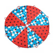 Pacific Play Tents 8 ft. Ladybug Playchute Parachute with Handles
