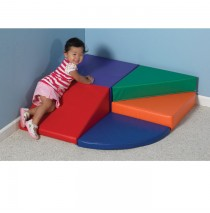 Mini Spiral Mountain Soft Play Climber by Childrens Factory