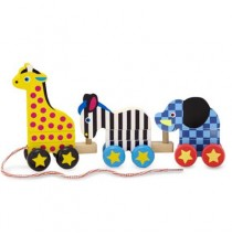 Melissa & Doug Pull Along Zoo Animals