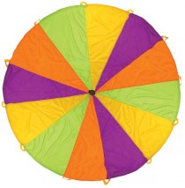 Pacific Play Tents 10 ft. Rainbow Playchute Parachute with Handles