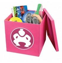 "Folding Toy Box Furniture Cube (Legacy) - 18"" Pink"