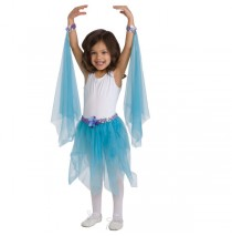 Fairy Tutu Teal With Wrist Scarves