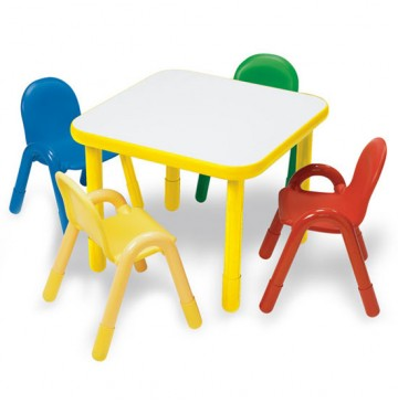 Angeles Baseline Square Table & 4 Chair Set - Yellow Trim, Primary Chairs - yellow-table-primary-chairs-360x365.jpg