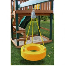 Residential Plastic Tire Swing - Yellow