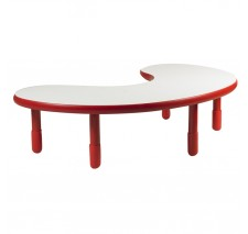 Angeles BaseLine Teacher / Kidney Table – Candy Apple Red with 12″ Legs & FREE SHIPPING