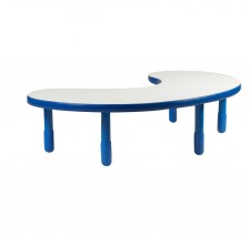 Angeles BaseLine Teacher / Kidney Table – Royal Blue  with 16″ Legs & FREE SHIPPING
