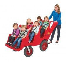"6 Passenger Never Flat ""Fat Tire"" Red / Grey Bye-Bye Buggy"