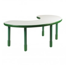 Angeles BaseLine Teacher / Kidney Table – Shamrock Green  with 18″ Legs & FREE SHIPPING