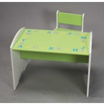 ABC Table with Chair in Green & White