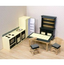 Melissa & Doug Victorian Dollhouse Kitchen Furniture Set
