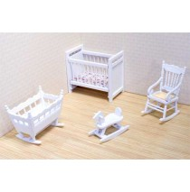Melissa & Doug Victorian Dollhouse Nursery Furniture Set