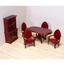 Melissa & Doug Victorian Dollhouse Dining Room Furniture Set
