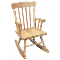 Child's Colonial Spindle Rocking Chair Natural
