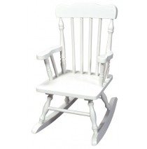Child's Colonial Spindle Rocking Chair White