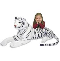 Melissa & Doug White Tiger Plush Stuffed Animal