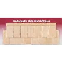 Wood Dollhouse Shingles - Rectangle Shingle