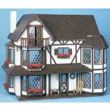 The Harrison Dollhouse Kit by Greenleaf - 8006-Harrison-Painted-360x365.jpg