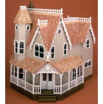 The Pierce Dollhouse Kit by Greenleaf - 8011-Pierce-Painted-Front-360x365.jpg