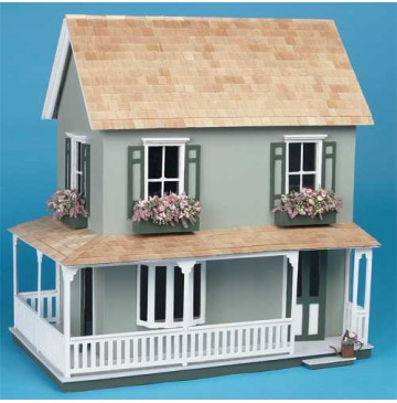 The Laurel Wooden Dollhouse Kit by Corona Concepts - 9309-Painted-Laural-Fron-360x365.jpg