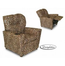 All Cheetah Child Recliner Chair with Cup Holder