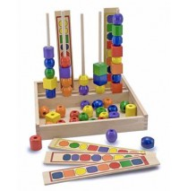 Wooden Bead Sequencing Set by Melissa & Doug
