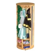 GuideCraft Dress Up Carousel Storage Unit - Natural