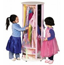 GuideCraft Dress Up Carousel Storage Unit - Pastel